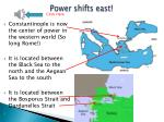 power shifts east