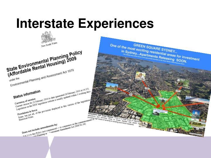 Interstate Experiences