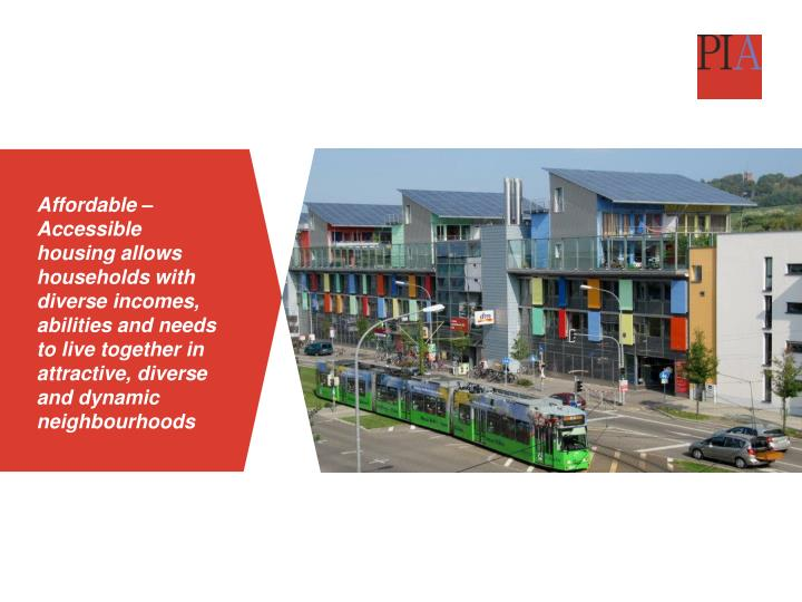 Affordable – Accessible housing allows households with diverse incomes, abilities and needs to liv...