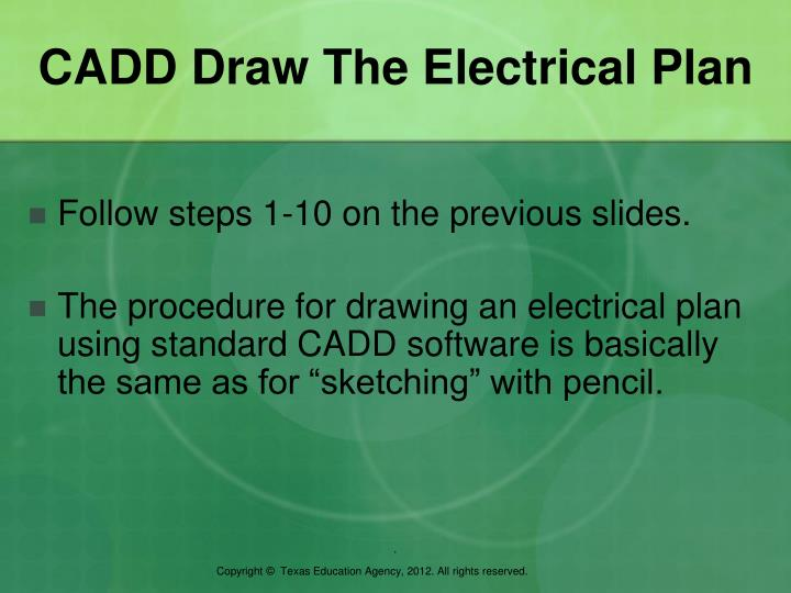 CADD Draw The Electrical Plan