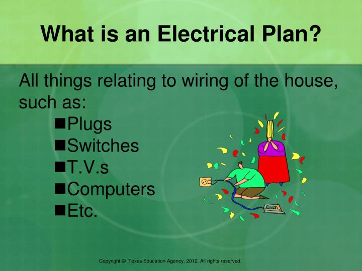 What is an electrical plan