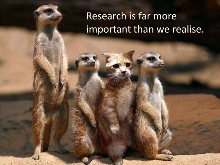 Research is far more important than we realise.