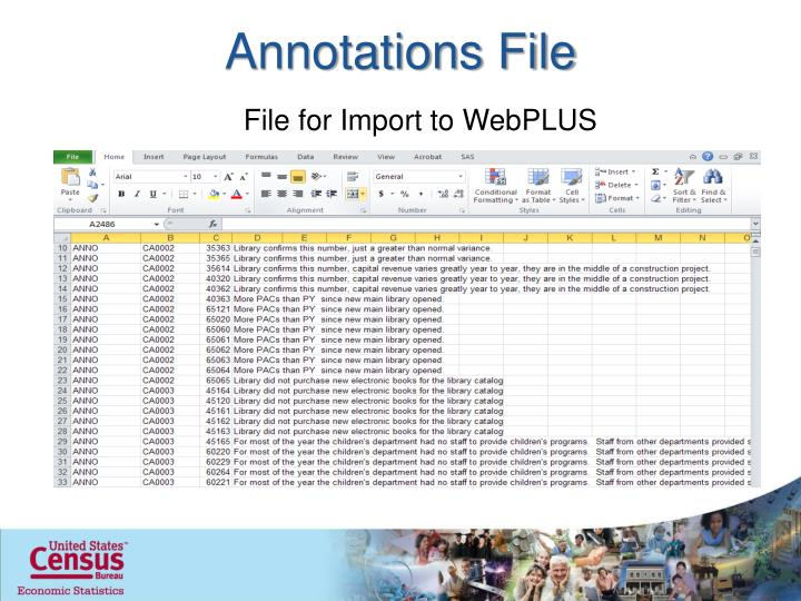 Annotations File