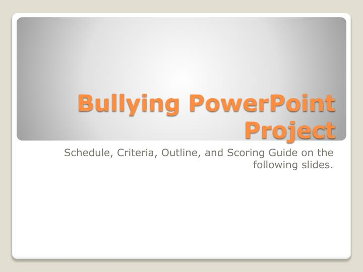 bullying powerpoint project n.