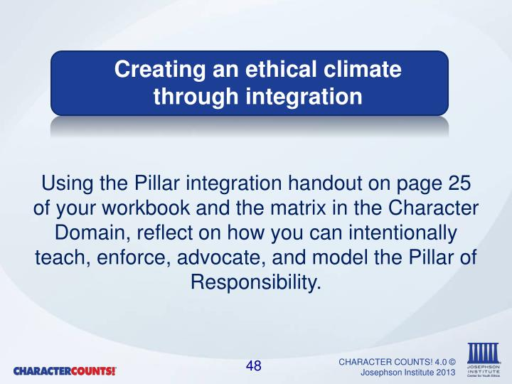 Using the Pillar integration handout on page 25 of your workbook and the