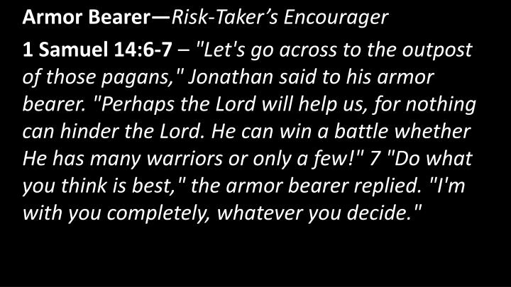 Armor Bearer—