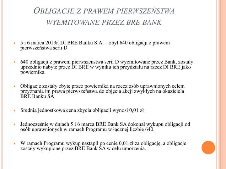Obligacje z prawem pierwszeństwa wyemitowane przez