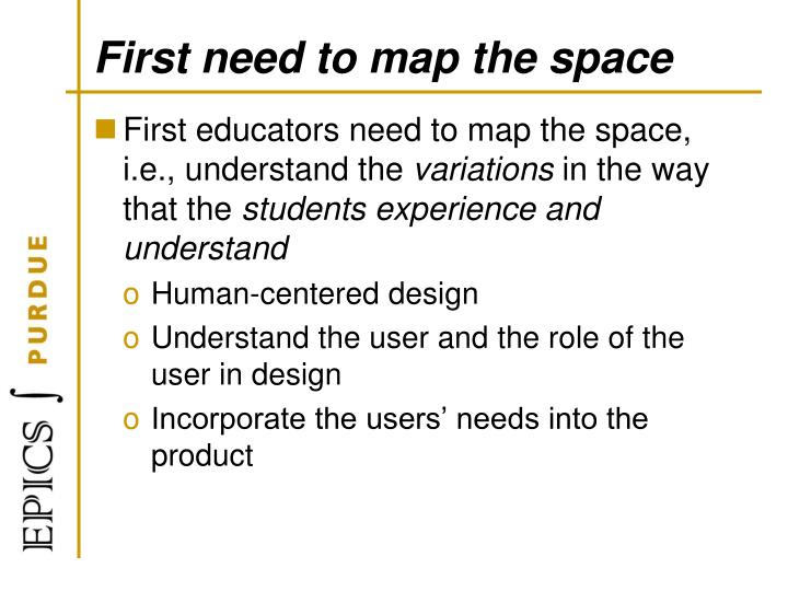 First need to map the space