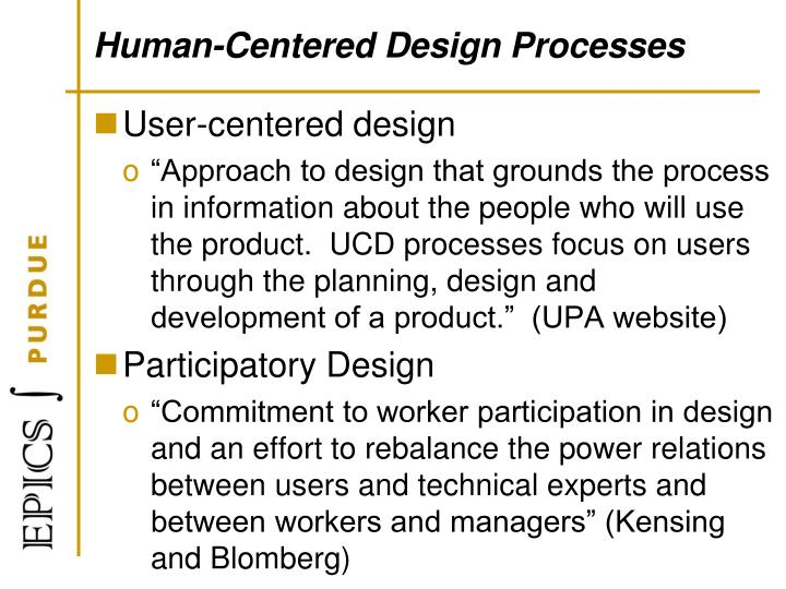 Human-Centered Design Processes