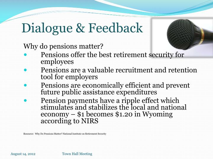 Why do pensions matter?