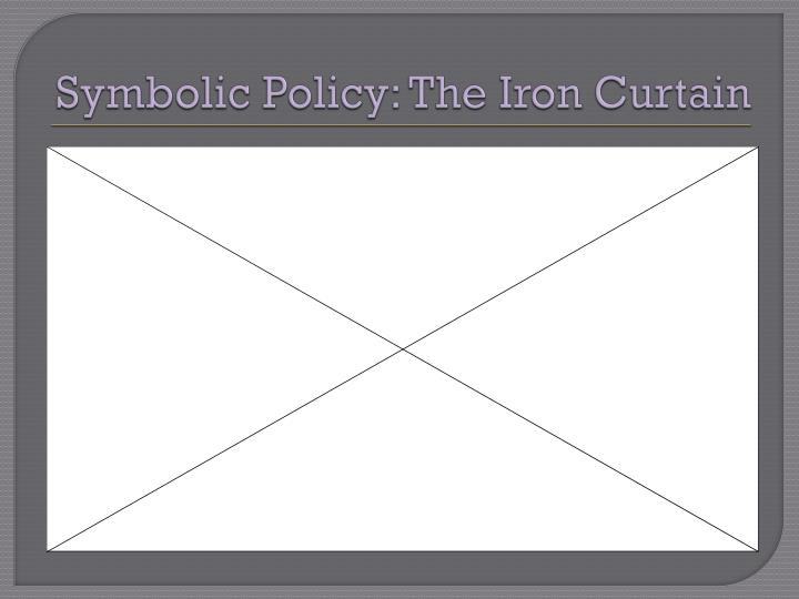 Symbolic Policy: The Iron Curtain