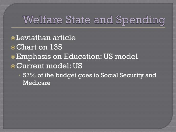 Welfare State and Spending