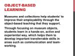 object based learning