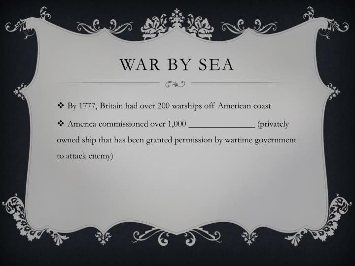 War by sea