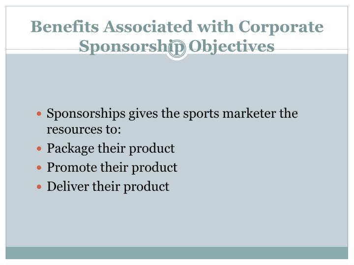 Benefits Associated with Corporate Sponsorship Objectives