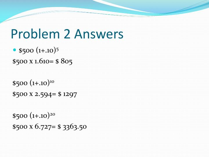 Problem 2 Answers