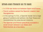 spain and france go to war