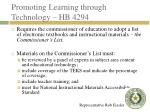 promoting learning through technology hb 4294