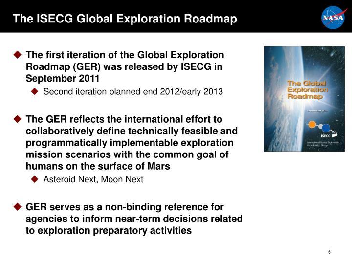 The ISECG Global Exploration Roadmap