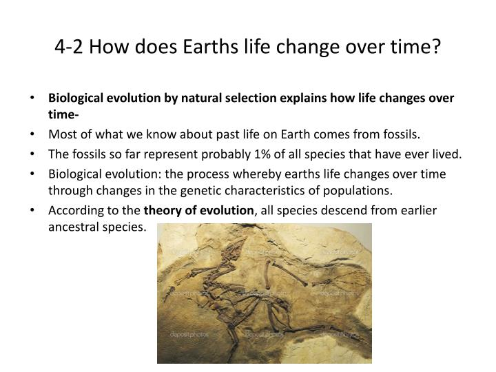 4-2 How does Earths life change over time?