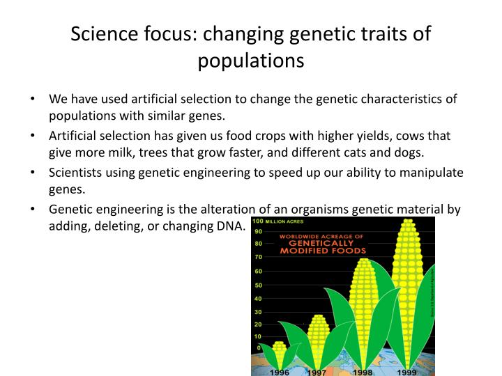 Science focus: changing genetic traits of populations