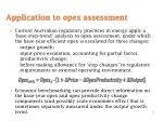 application to opex assessment