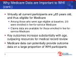why medicare data are important to whi cont