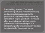 1 3 3 using examples define the laws of diminishing returns and increasing returns to scale k1