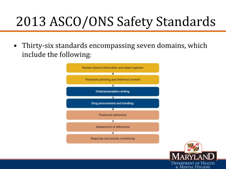 2013 ASCO/ONS Safety Standards
