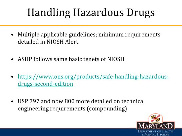 Handling Hazardous Drugs