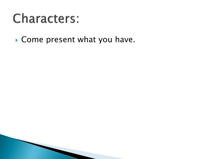 Characters:
