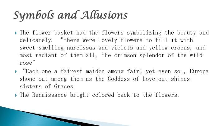 Symbols and Allusions