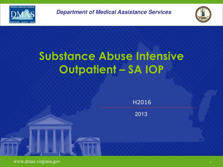 substance abuse intensive outpatient sa iop n.