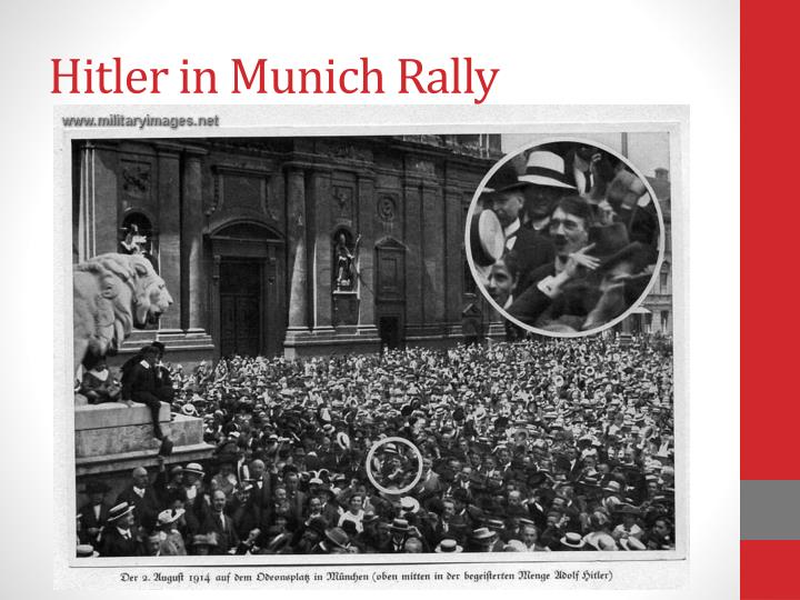 Hitler in Munich Rally