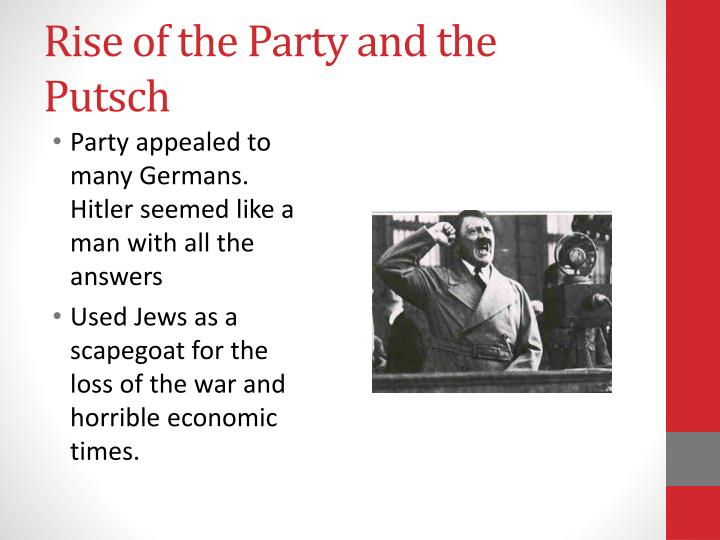 Rise of the Party and the Putsch