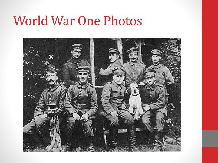 World War One Photos