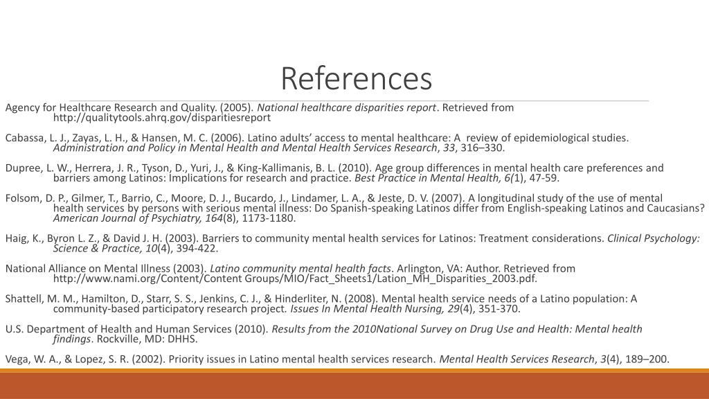 PPT - MENTAL HEALTH OUTREACH PROGRAM FOR LATINOS: A GRANT ...