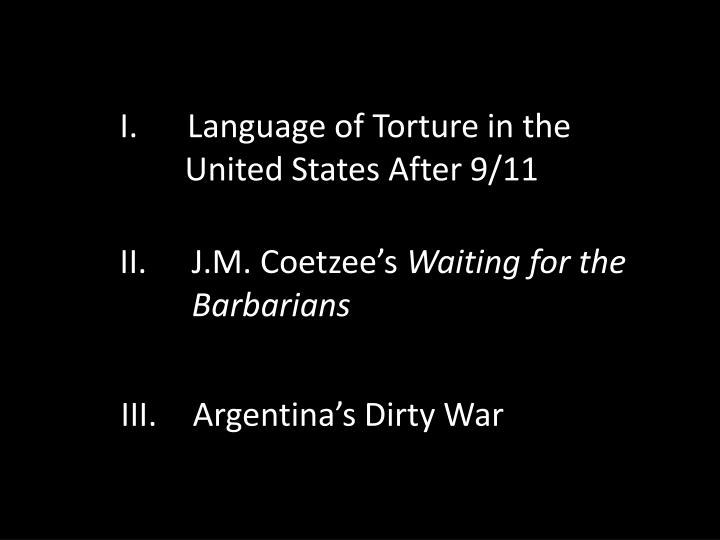 Language of Torture in the