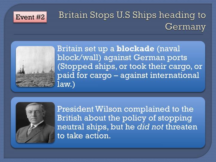 Britain Stops U.S Ships heading to Germany