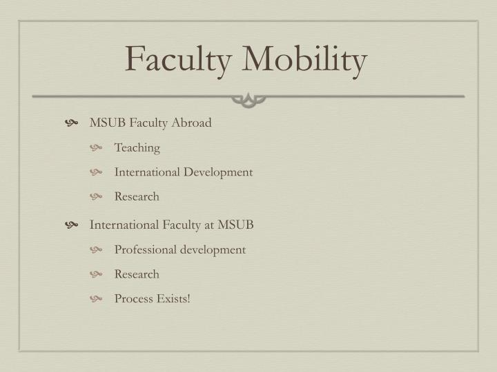 Faculty Mobility