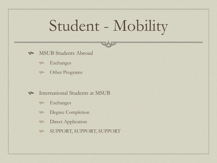Student - Mobility