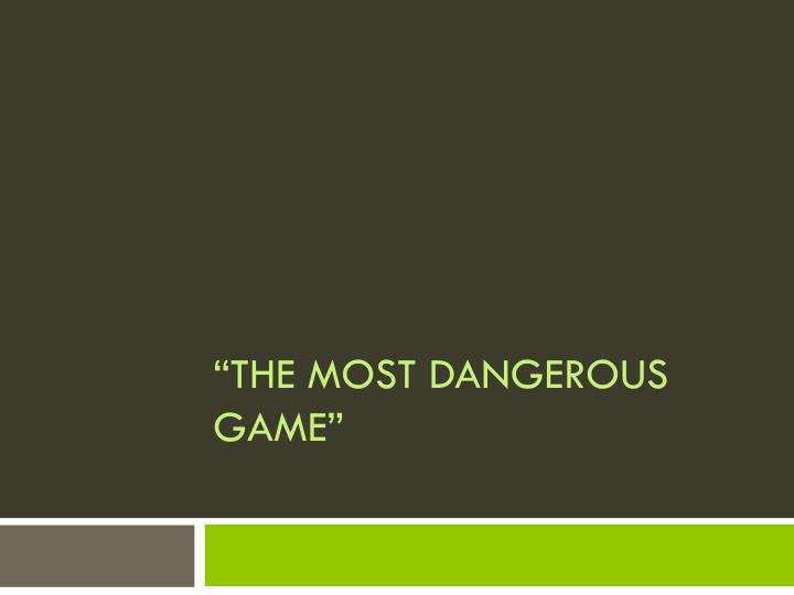 the most dangerous game n.