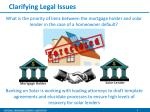 clarifying legal issues