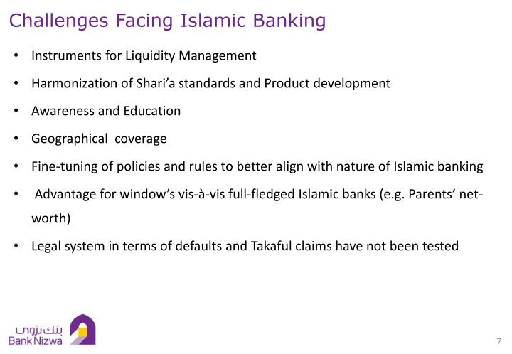 Challenges Facing Islamic Banking