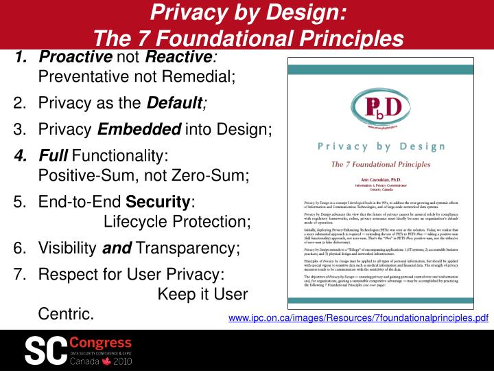 Privacy by Design:
