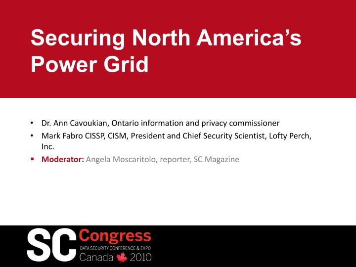 Securing north america s power grid