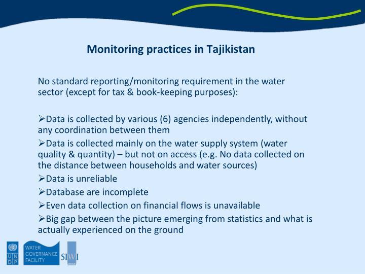Monitoring practices in Tajikistan