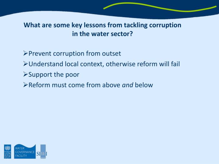 What are some key lessons from tackling corruption