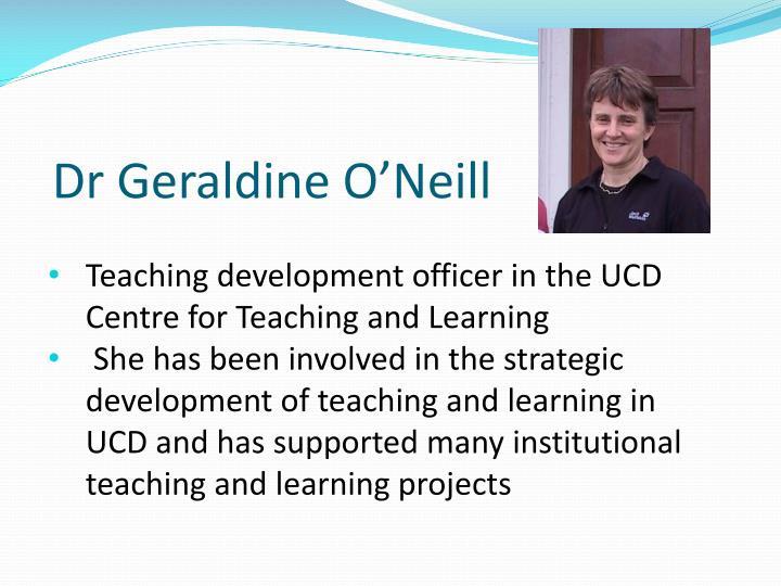 Dr Geraldine O'Neill