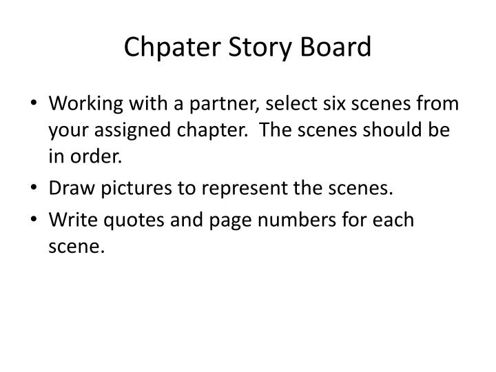 Chpater story board